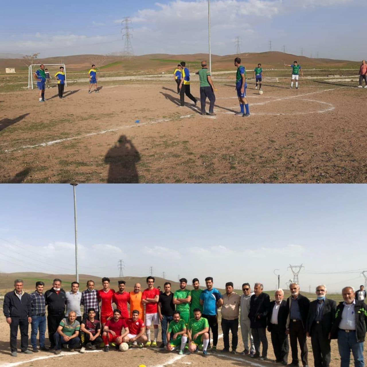 آغاز رقابتهای فوتبال جام نوروزی روستای انجیلاق