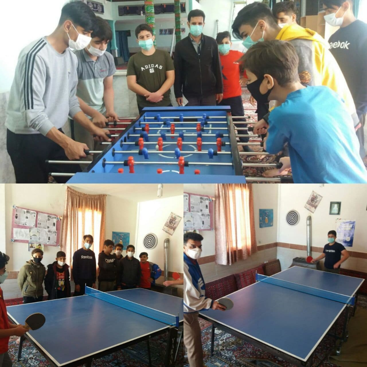 برگزاری مسابقات تنیس روی میز و فوتبال دستی ویژه ایام نوروز در روستای باقرآباد ترک