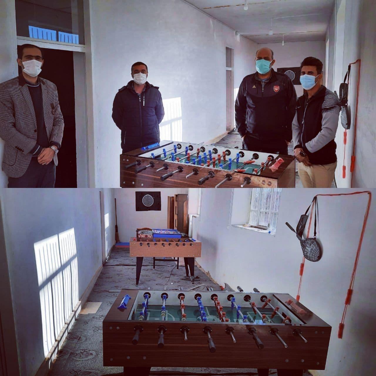 بازدید رئیس اداره ورزش و جوانان از خانه ورزش روستای شکرناب